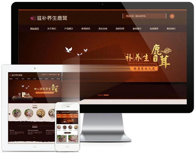 易优cms_养身药业公司网站模板源码带手机版,医疗保健企业网站