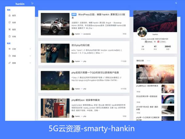 wordpress模板_smarty_hankin主题下载